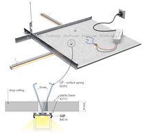 LED lighting for drop ceilings