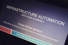 My first talk on the automation #techtalk #automation #dev #devops #web #chef #ansible #linux #unix #insta by wajrcs