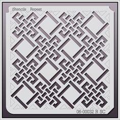 iStencils Repeat Wall Stencil R SC 8 X - sign norman reedus Stencil Patterns, Stencil Designs, Print Patterns, Geometric Patterns, Glass Design, Wall Design, Design Design, Stencils, Paper Art