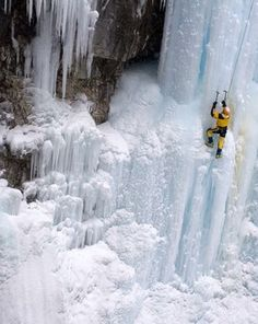 Banff National Park Photograph by David Ballantyne, My Shot  An ice wall challenges a climber in Alberta's Banff National Park. The first national park established in Canada, Banff spans a region of unparalleled mountain scenery and is open year-round for wildlife viewing, sightseeing, and other outdoor activities.