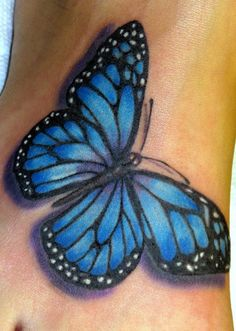 Blue Morpho Tattoo...like this but a side view
