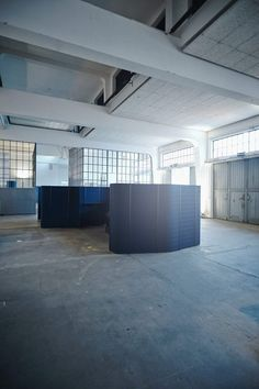 """""""The Workbays Way – Beyond Office Space"""" Former garage in Munich, previously used by Deutsche Post. Vitra."""