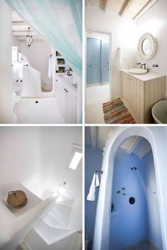 Organic natural bathroom, greek home design