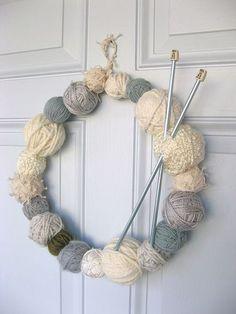 Got leftover yarn? Make the cutest wreath ever!!.