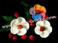 Tutorial Flor Crochet o Ganchillo - YouTube