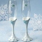 Elegance By Carbonneau Toasting Flutes - Style FL447 Snowflake