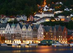 Bergen, Norway. We were here one very, very cold day.  The views are spectacular from the top of the funiculaire.