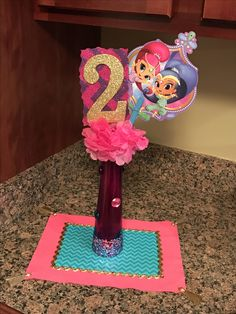 Shimmer and shine centerpiece