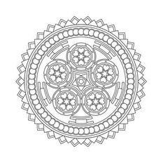 These Printable Mandala And Abstract Coloring Pages Relieve Stress And Help You Meditate - Higher Perspectives Abstract Coloring Pages, Pattern Coloring Pages, Mandala Coloring Pages, Coloring Book Pages, Printable Coloring Pages, Coloring Sheets, Geometric Mandala, Mandala Design, Mont Blanc