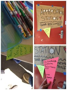Have students sign penants to string together for teacher appreciation week!