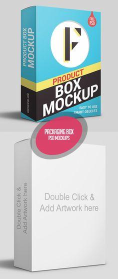 Product Packaging Box PSD Mockup #branding #freepsdmockups #freepsdfiles #magazinemockup