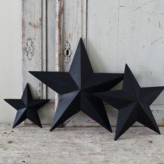 black stars...