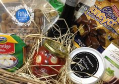 Gourmet Hamper with delicious goodies.