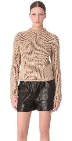 Alexander Wang  Seamless Hand Knit Pullover rstyle.me