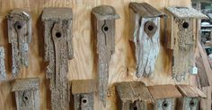 One of my cousins in Pinetta has retired and now he spends his days making these beautiful birdhouses out of driftwood.  Aren't they g...