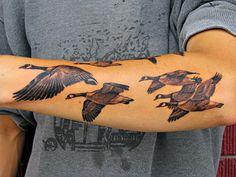 Reed Leslie Tattoo Geese