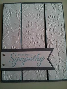 Sympathy card, so beautiful! Handmade by my friend(: