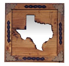 Nice Large State Of Texas Mirror   Great Western Furniture Company