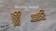 Netting Stitch Technique | How To Seed Bead Tutorials