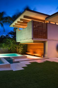 This new house in Hawaii is designed to take advantage of the cool sea breezes.