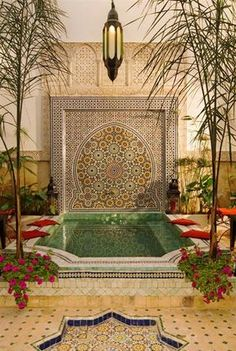 Plunge Pool :: Dar El Souk  I really want to stay in a riad next time, and this one looks great :-) Moroccan Design, Moroccan Decor, Moroccan Style, Moroccan Bedroom, Moroccan Lanterns, Kleiner Pool Design, Moroccan Garden, Riad, Moroccan Interiors