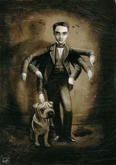 Self-portrait by Benjamin Lacombe. Courtesy of Museo ABC/Cano estudio. Click above to see larger image. Chibi, Where Is My Mind, Edgar Allan Poe, Arte Pop, Pop Surrealism, Gothic Art, Paris, Altered Art, Illustrators