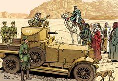 Ilustración del gran @paco_roca para postales de Fnac sobre la I Guerra Mundial.