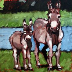 Don't you worry about the mule, painting by artist Rick Nilson