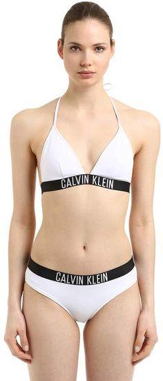 Calvin Klein Logo Band Triangle Bikini Top a54c8f5de