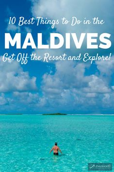 The ultimate guide to staying at a bungalow in the Maldives. Travel to the Maldives and stay at an all inclusive resort on an island overlooking the turquoise waters. Perfect for a vacation or even a honeymoon, spend your days relaxing on the many beaches, but also make an effort to get off the resort and explore the surrounding area! Active travel in the paradise. | Blog by the Planet D #Maldives