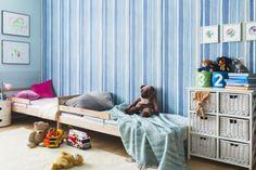 Tikkurila Duett Flow w odcieniu Aquarelle - metamorfoza pokoju dziecięcego przez Interiors Design Blog