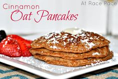 Cinnamon Oat Pancakes | At Race Pace - For a delicious healthy breakfast