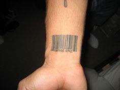 barcode 27 Strengthening Wrist Tattoos For Guys