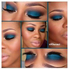 This how you do Blue! Boom! @kluemoi MuA