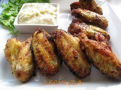 Alitas de pollo con salsa de queso (4)