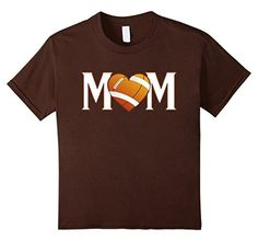 Women's Mom Heart Love American Football Women T-Shirt