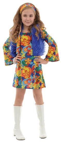 Ravishing Far Out Child Disco Costume. Huge Range Hippie Costumes for Halloween, Birthday, New year at PartyBell. Halloween Costumes For Girls, Girl Costumes, Adult Costumes, 1970s Costumes, Costume Ideas, Children Costumes, Halloween Ideas, Disco Costume, 50s Costume