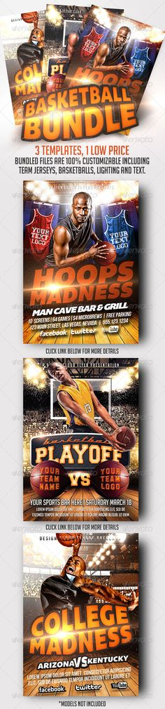 Basketball Flyer Template Bundle. A Design Cloud Photoshop Flyer Template Bundle. Available Exclusively from Graphic River.