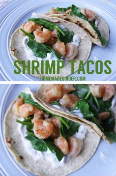 These shrimp tacos w
