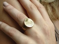 Ancient Lemon Tree, Ring For Women, Ring For Wife, Ring For Mother, Ring For Daughter, Coin Ring, Israel Ring, Jewish Ring, Gift Ring