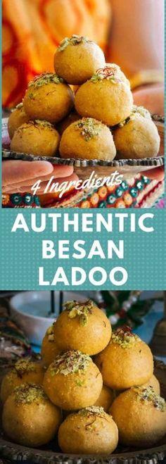 https://www.rachnas-kitchen.com/besan-ladoo-recipe/ #besanladoo #failproofbesanladoo #besanladdu