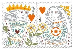 King and Queen of Hearts 44-cent stamp.