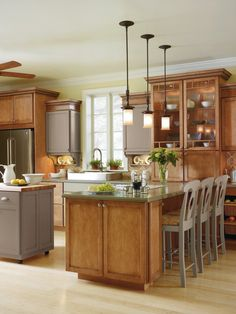 Cabbott Maple Kitchen By Thomasville Cabinetry. Iu0027ve Decided I Need Glass  Fronted Cabinets
