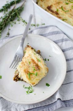 Lentil Shepherd's Pie! A rich, vegan lentil stew topped with homemade mashed potatoes. | www.delishknowledge.com