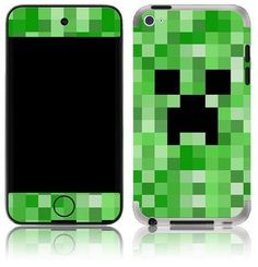Apple iPod Touch 4 Gen Minecraft Creeper Funny Decal Skin Cover | eBay Instead of candy :-)