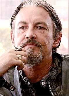 This is MY boy... giving the evil eye to Juice. I hated & loved this scene... hated it because of what he said and loved it because of the love Chibs still has for Juice even though he knows what must be done with him.
