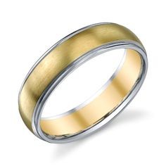 Lovely! Christian Bauer 14 Karat Two-Tone Wedding Ring / Band 273012 for about $1,365