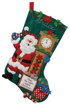 Twas The Night Bucilla Christmas Stocking  by JustSayItBaby