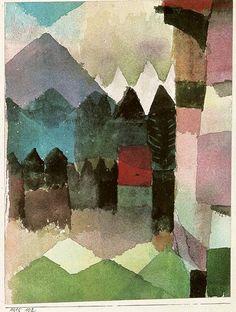 foehn wind in marc's garden.  paul klee, 1915.