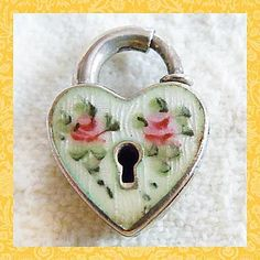 vintage heart charms